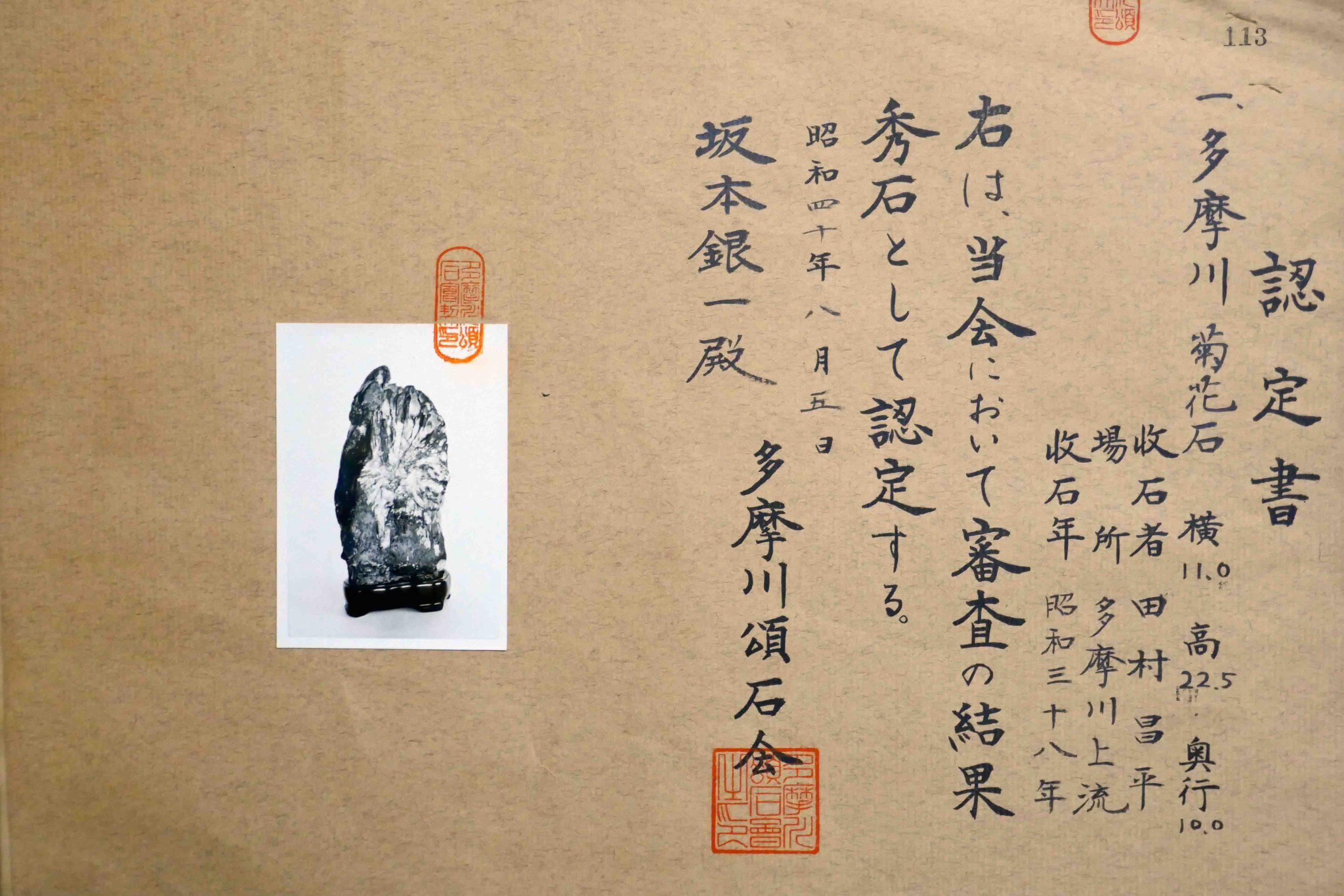 Shōjō, una pietra dal fiume Tama